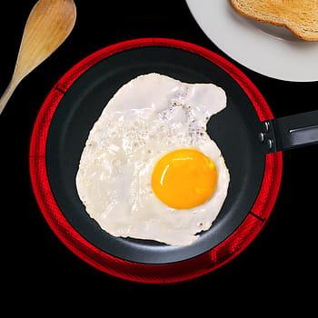 Huevo frito hecho en vitroceramica